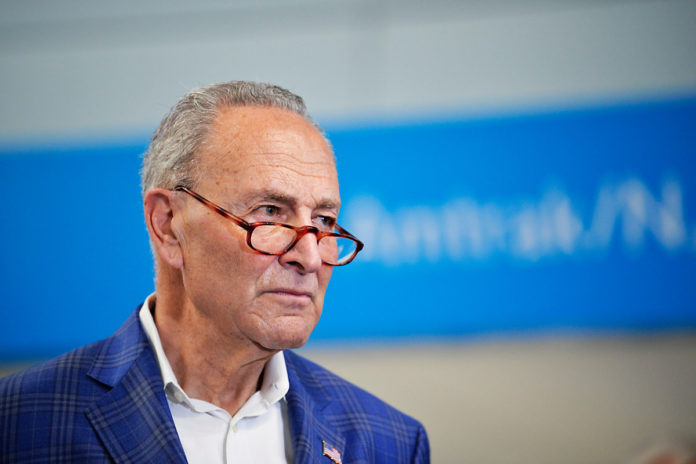 Schumer warns Dems of 'long nights,' potential August recess delay