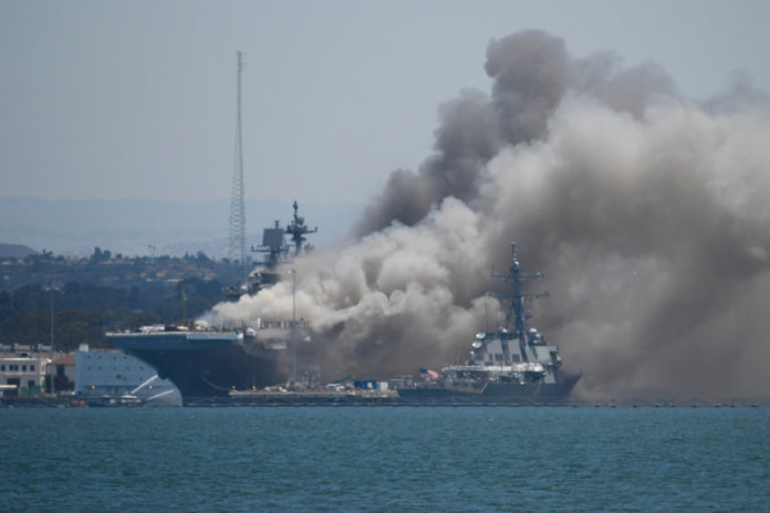 Sailor charged in connection with USS Bonhomme Richard fire