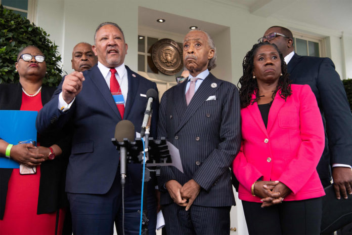 Sharpton meets with Biden and Harris on police reform and voting rights