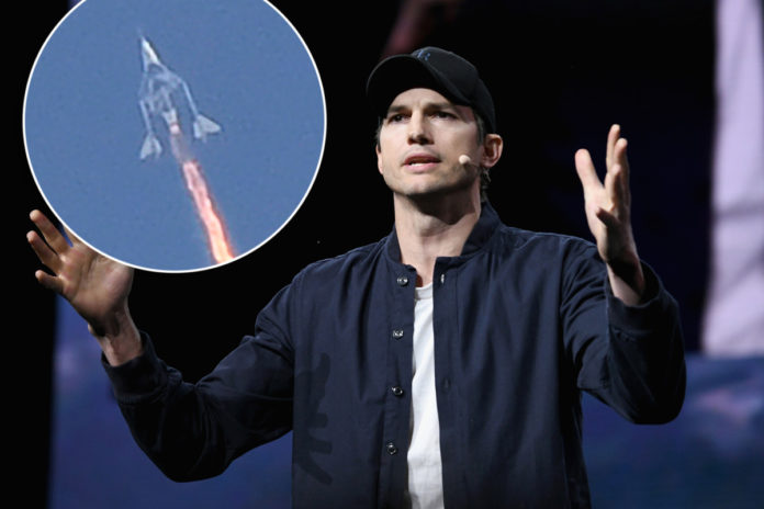 Mila Kunis convinced Ashton Kutcher to sell ticket to space aboard Virgin Galactic