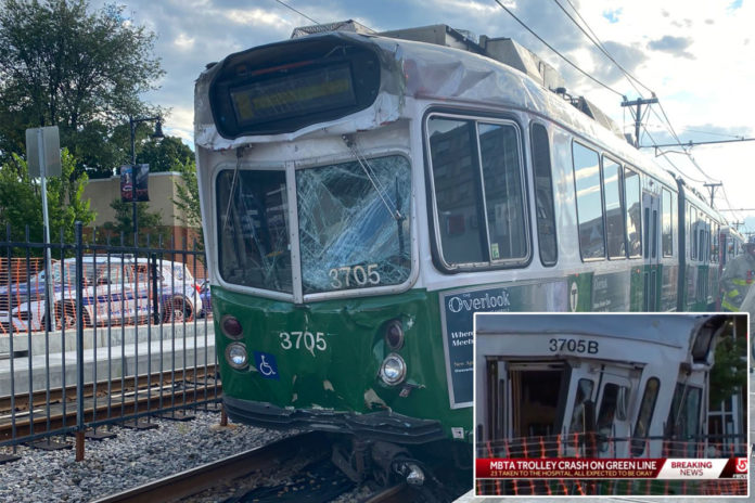 Green Line trolley collision injures 23 in Boston