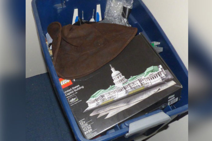 Capitol Lego set seized from rioter in box, unassembled