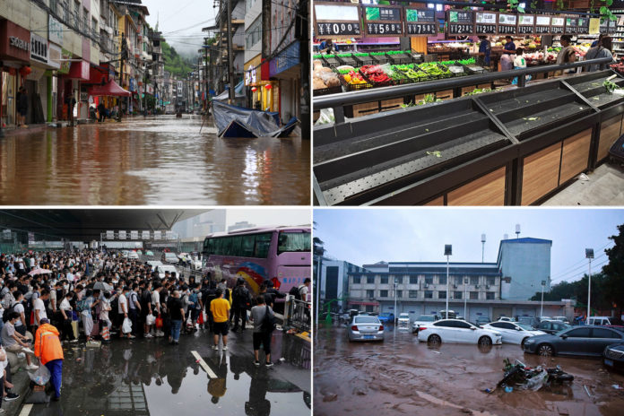 Rains in China kill at least 25 people, force 1.2M to flee