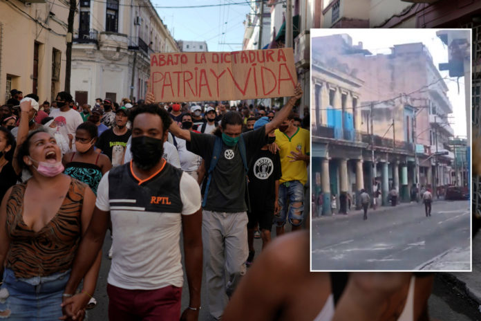 Stunning video shows Cuban authorities firing on protesters