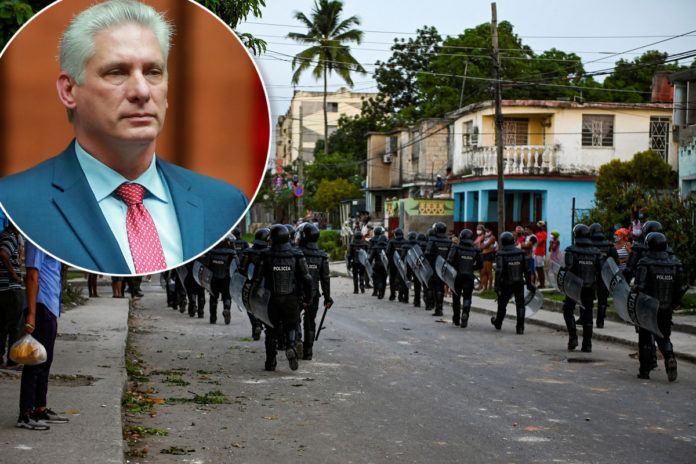 Cuban president takes some blame for massive protests
