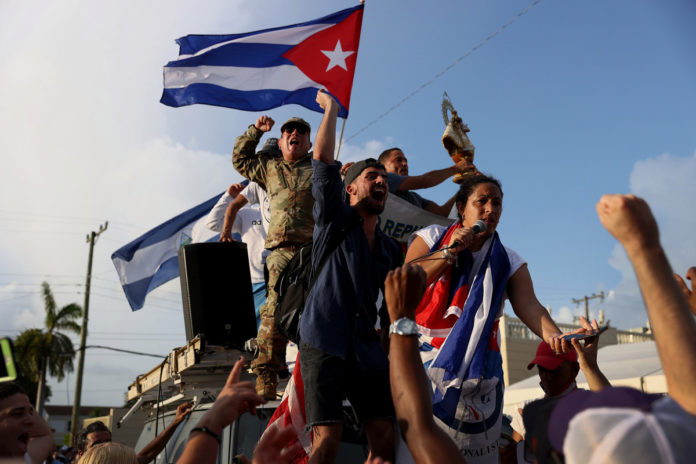 Democrats and Republicans divided on Cuban protest response