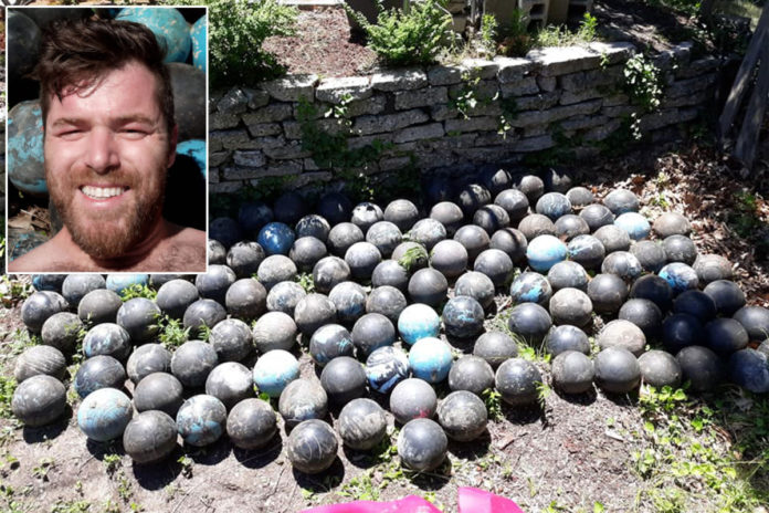 Michigander David Olson finds 160 bowling balls during home improvement project