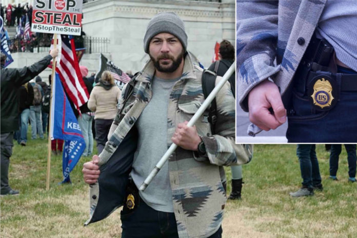 Ex-DEA agent allegedly posed on Capitol grounds with official firearm