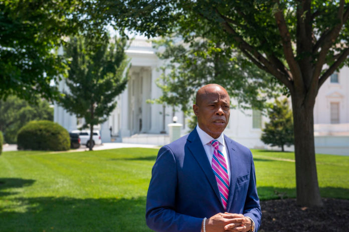 NYC mayoral candidate Eric Adams visits White House to discuss crime
