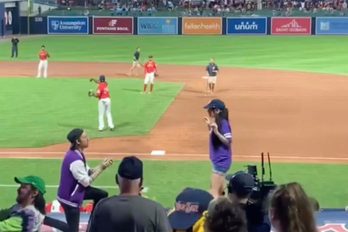 Man's failed marriage proposal at Worcester Red Sox game caught on camera