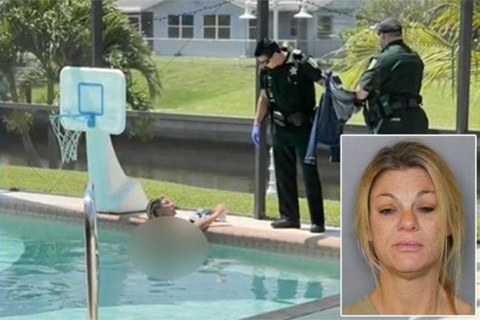 Florida woman Heather Kennedy arrested for skinny dipping in man's pool