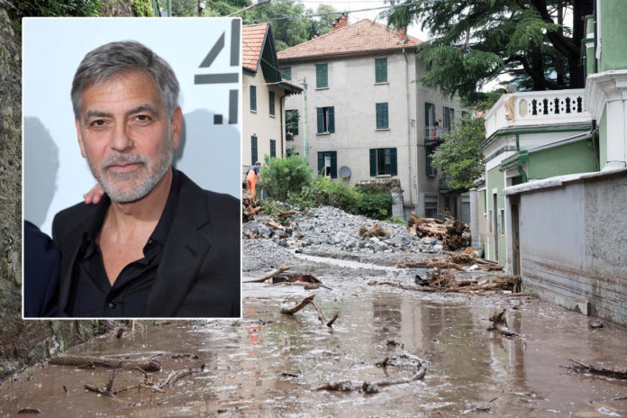 George Clooney caught in floods that hit northern Italy