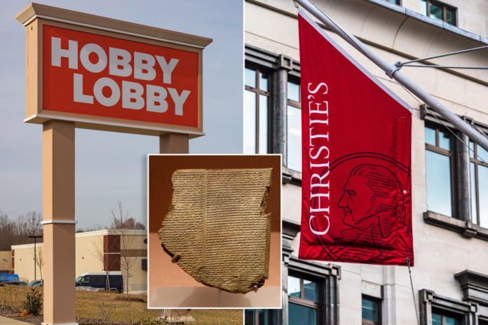 Hobby Lobby sues Christie's over seized $1.6M 'Epic of Gilgamesh' tablet