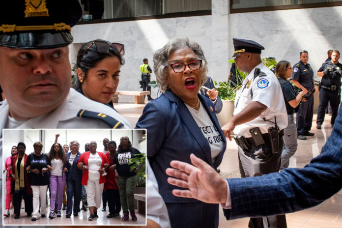 Rep. Joyce Beatty detained during voting rights protest