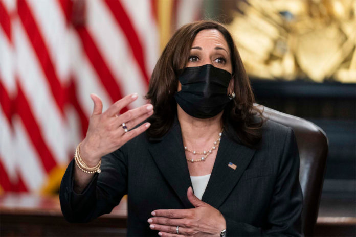 VP Harris puts on mask, forces reporters to after CDC mandate