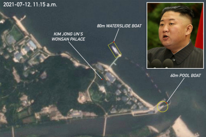 Kim Jong Un reportedly enjoys party boat with waterslides