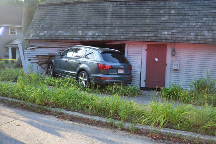 Samuel Lincoln Cottage in Massachusetts damaged when SUV plows into living room