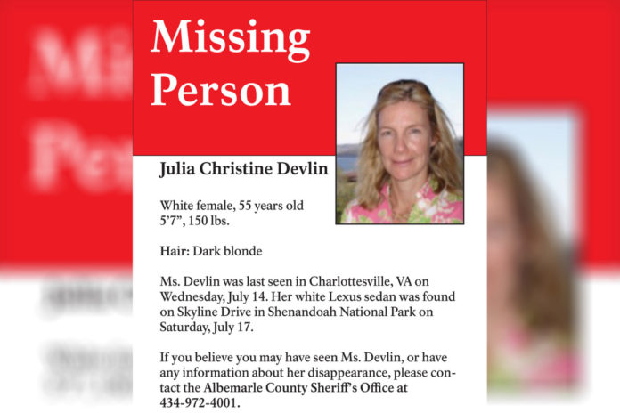 Body found believed to be missing woman Julia Christine Devlin