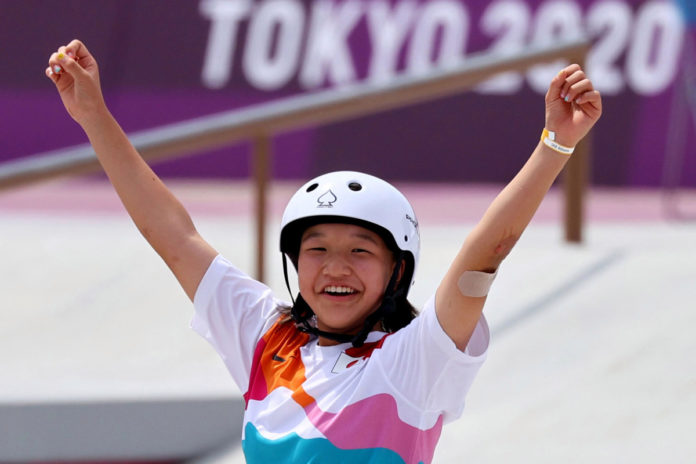 13-year-old Japanese girl wins gold in Olympic skateboarding