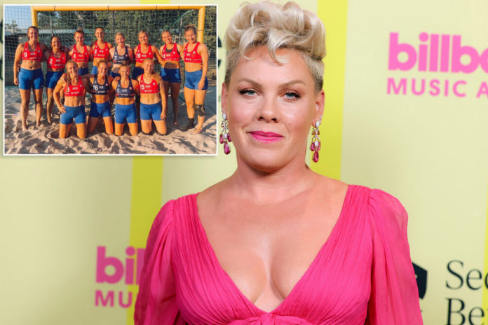 Pink vows to pay Norway handball players' 'improper clothing' fines
