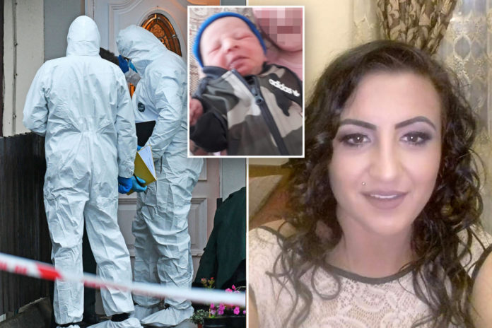 UK mom charged with murdering 8-week-old son, wounding daughter