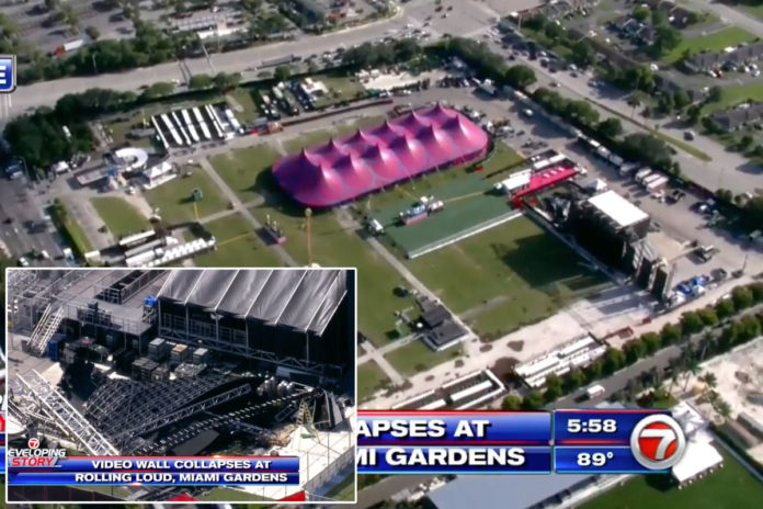 Rolling Loud Miami stage partially collapses day before music festival