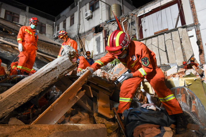 17 people killed as search ends in Siji Kaiyuan Hotel collapse