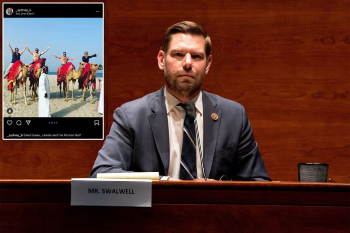 Eric Swalwell posed shirtless during pricey paid-for Qatar trip