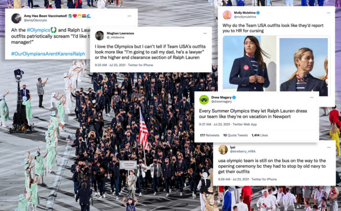 Team USA's 'preppy' and 'pretentious' outfits ripped on Twitter