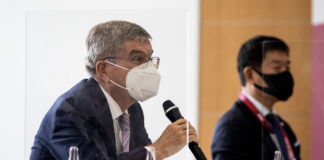 Olympic leader calls Japanese people 'Chinese' in first Tokyo speech