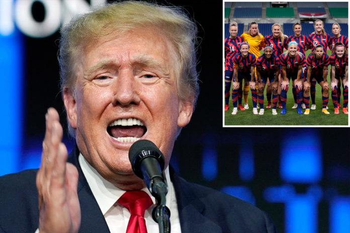 Trump says 'woke politics' contributed to US women's soccer loss