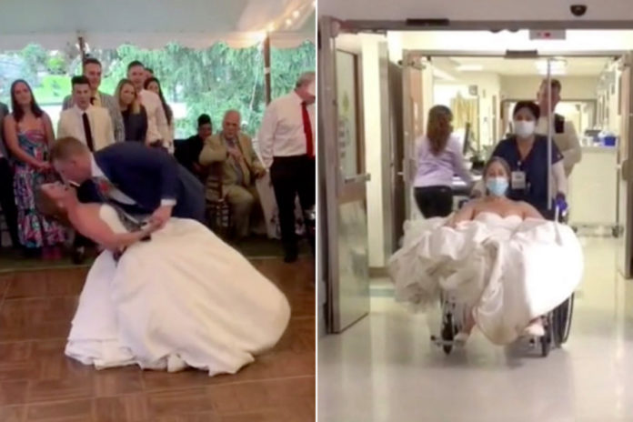 Bride dislocates knee during first dance, returns to wedding
