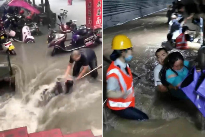 12 die in flooded subway car during historic rains in China