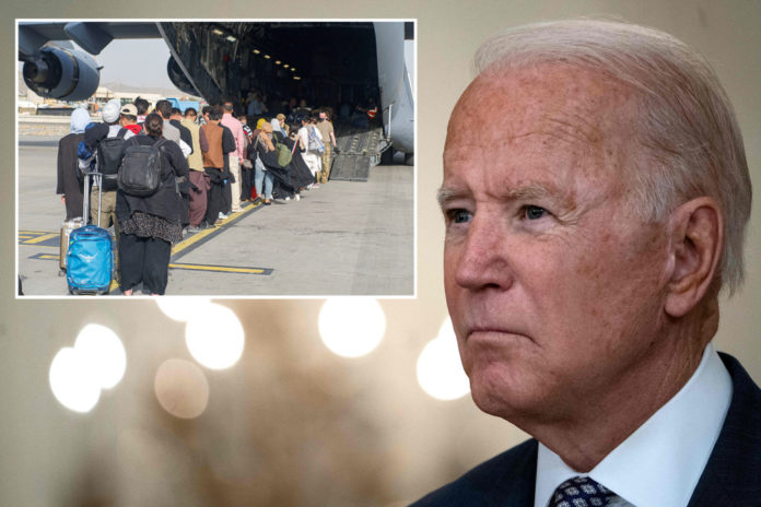 Biden stumbles with Afghan questions, says Americans can reach Kabul