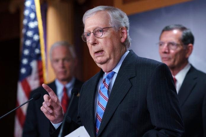 Mitch McConnell cautions against rushing infrastructure vote