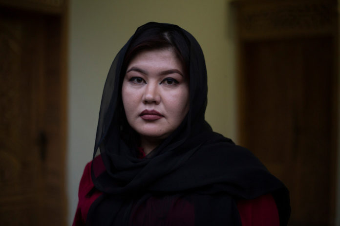 Shafiqa Saeise, an Afghan judge reaches a neighboring country safely on August 28, 2021.