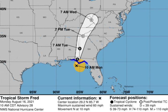 Tropical Storm Fred expected to slam Florida coast today