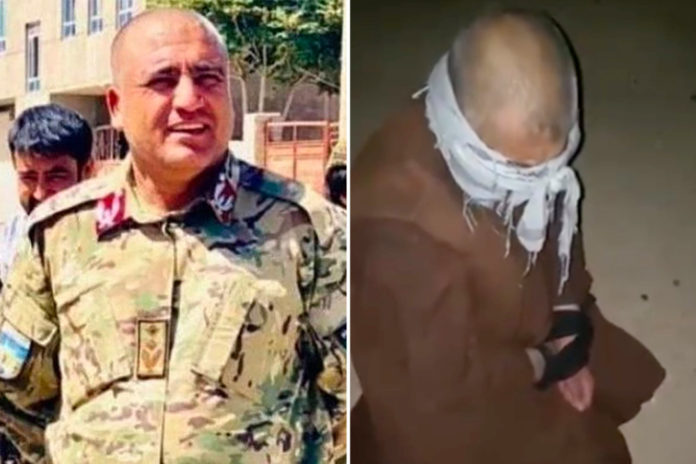Video reportedly shows Taliban execute Afghan police chief