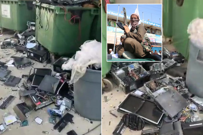 Video shows destroyed computers dumped by NATO in Afghanistan