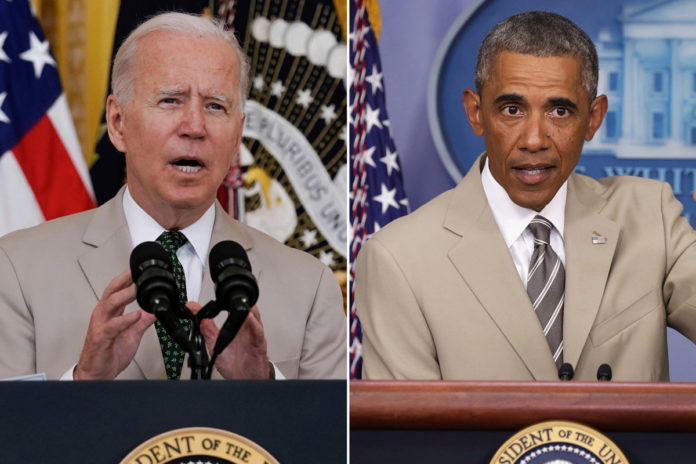 Biden wears tan suit similar to one that sparked Obama 'controversy'