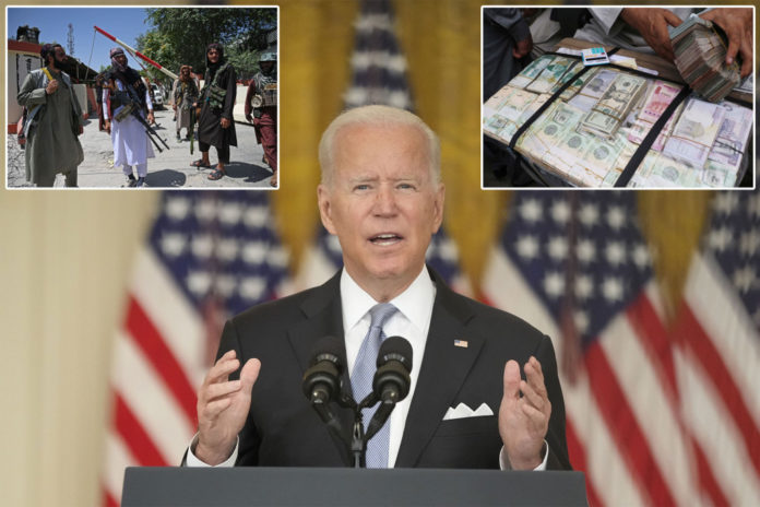 Biden freezes Afghan currency reserves to cut off Taliban cash