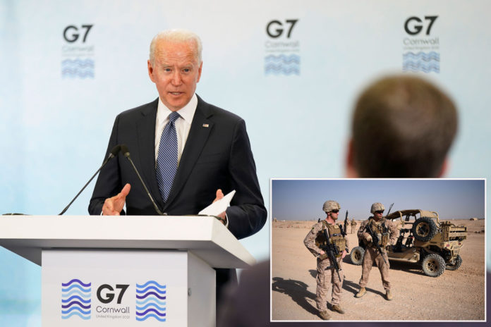 Biden told G7 world leaders he would keep security presence in Afghanistan