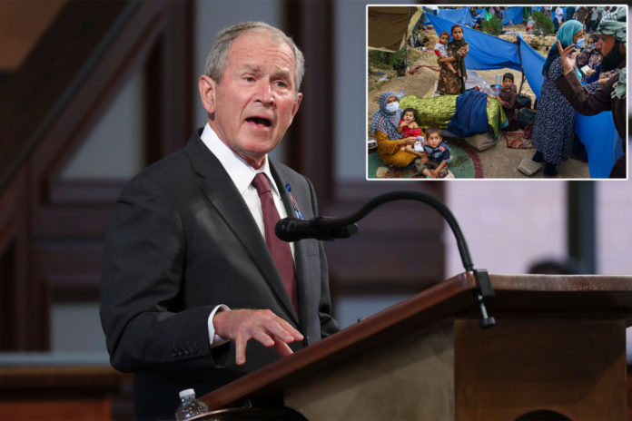 George W. Bush urges Biden to 'cut the red tape' for Afghan refugees evacuation