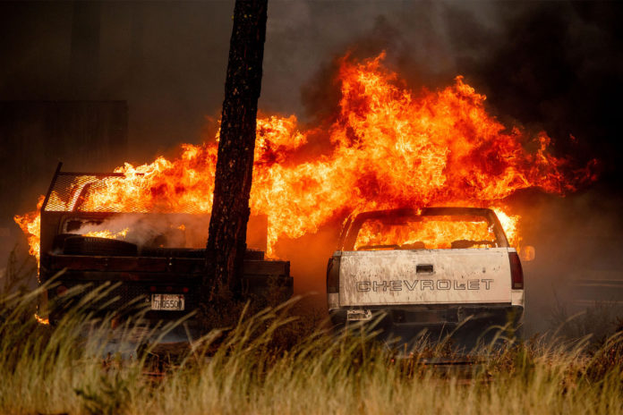 Northern California wildfire engulfs town of Greenville, levels businesses
