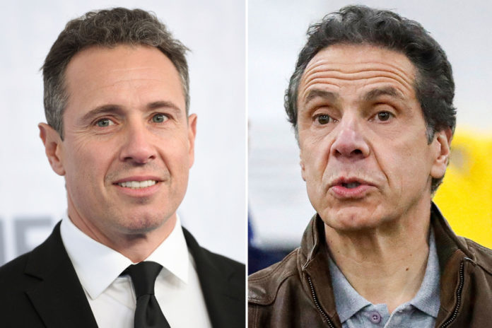 Chris Cuomo still talking with big bro Andrew Cuomo while on vacation