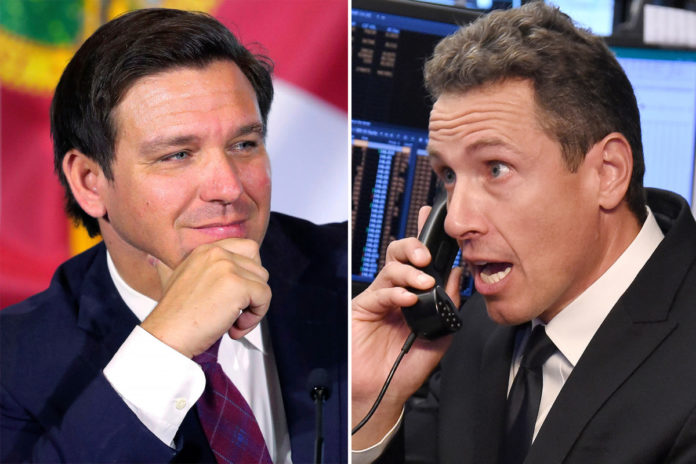 Chris Cuomo ripped for accusing Ron DeSantis of holding residents 'hostage'