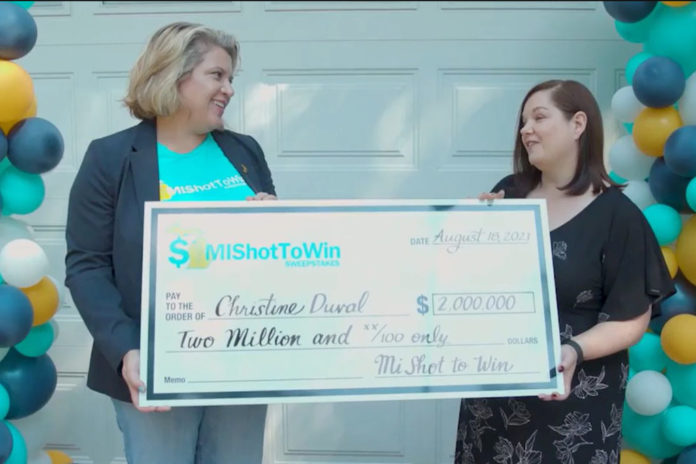 Michigan woman wins $2M prize in vaccine sweepstakes