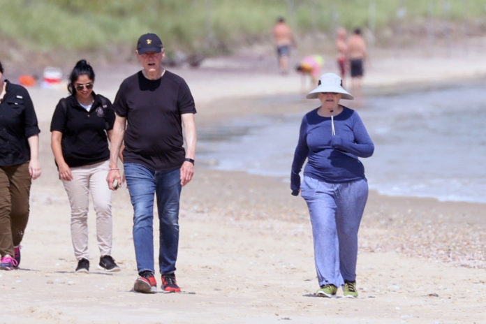 Hillary and Bill Clinton spotted in the Hamptons