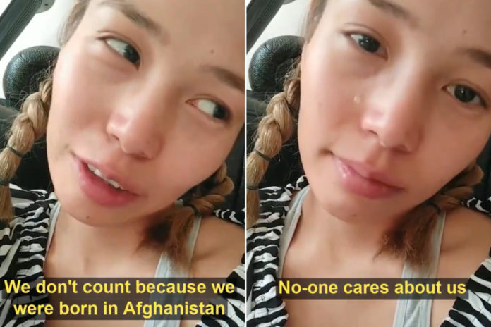 Afghan girl admits fears of 'dying slowly in history': video