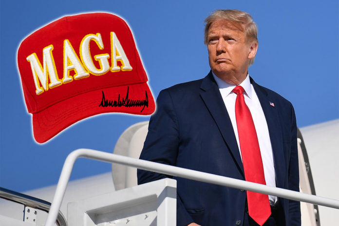 Trump unveils new version of MAGA hat he 'just designed'